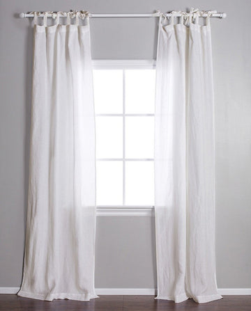 TIE TOP CURTAIN