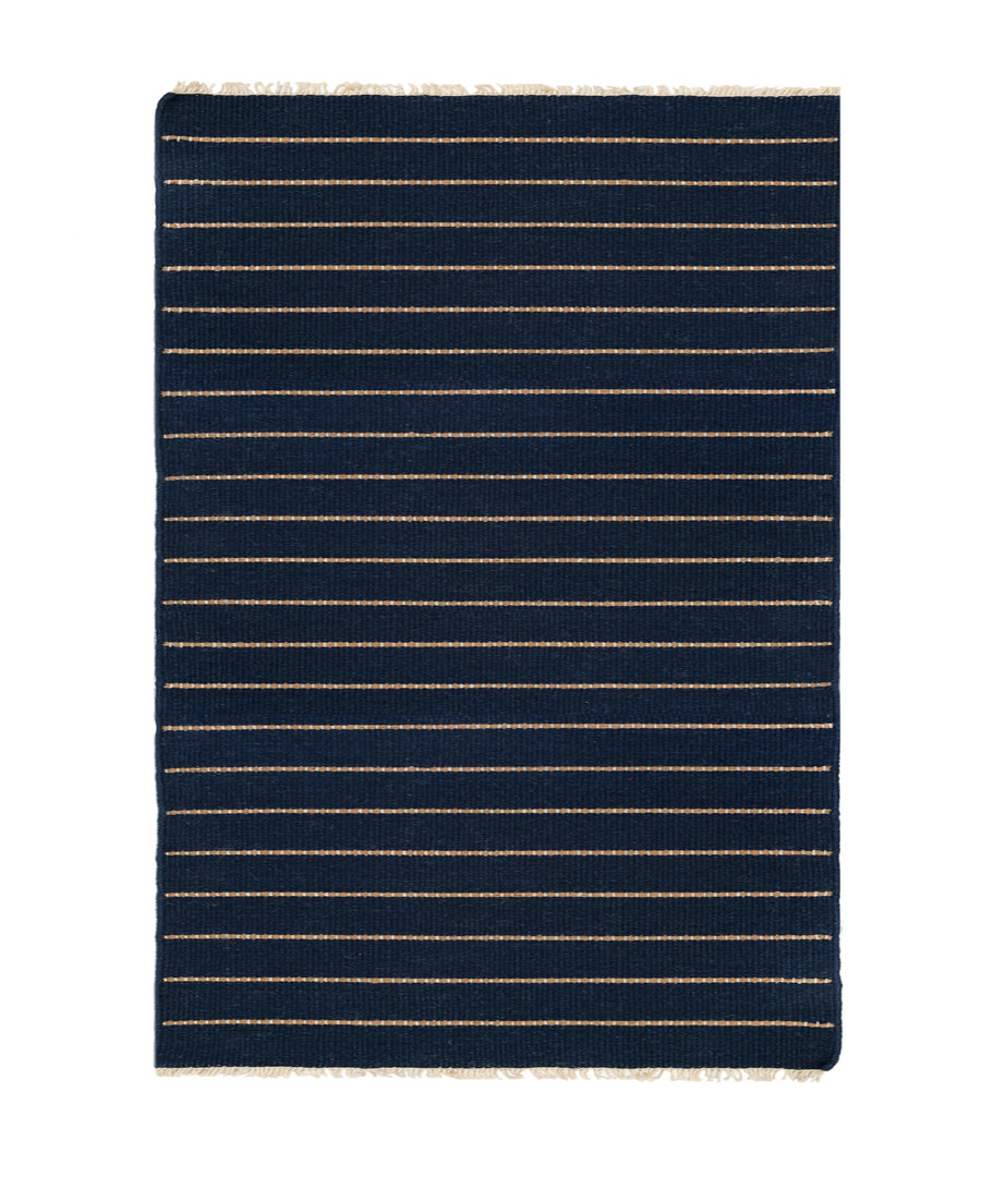 WARBY HANDWOVEN RUG - NAVY