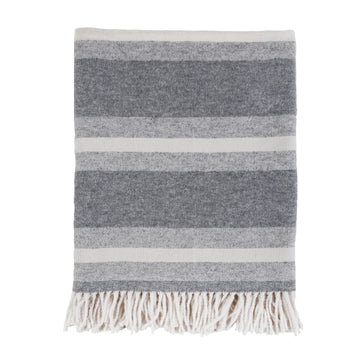 ALPINE THROW - GREY/IVORY-Pom Pom at Home