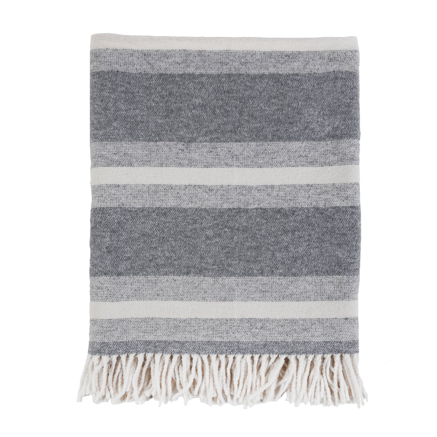 ASPEN THROW - GREY/IVORY