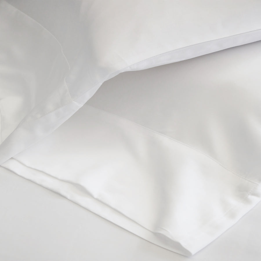 COTTON SATEEN SHEET SET - WHITE
