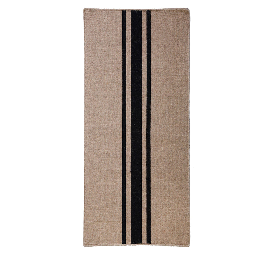 BEACHWOOD HANDWOVEN RUG - NATURAL/BLACK