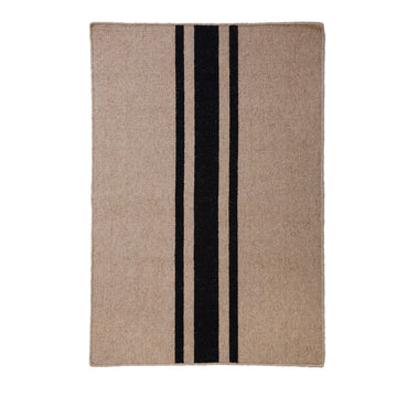 NEW!  BEACHWOOD HANDWOVEN RUG - NATURAL/BLACK
