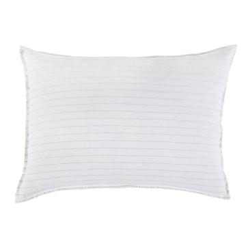 "BLAKE BIG PILLOW 28"" X 36"" WITH INSERT - WHITE/OCEAN"