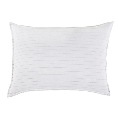 "<font color=""526b9e""><b> NEW! </b></font>  BLAKE BIG PILLOW WITH INSERT  <br> WHITE/OCEAN"