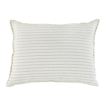 NEW!  BLAKE BIG PILLOW WITH INSERT CREAM/GREY