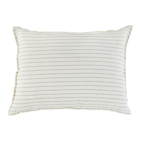 "<font color=""526b9e""><b> NEW! </b></font>  BLAKE BIG PILLOW WITH INSERT  <br> CREAM/GREY"
