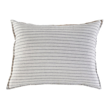 NEW!  BLAKE BIG PILLOW WITH INSERT FLAX/MIDNIGHT