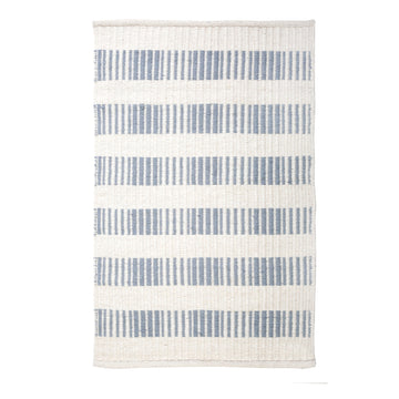 NEW!  BROOKE HANDWOVEN RUG - NORDIC BLUE