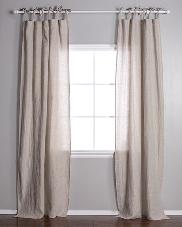TIE TOP CURTAIN-Pom Pom at Home