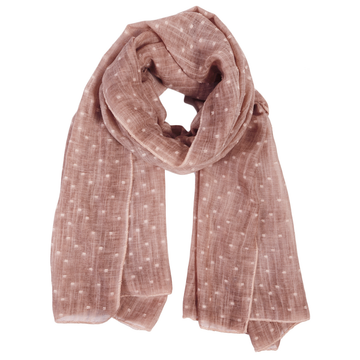 DOBBY SCARF - DUSTY ROSE