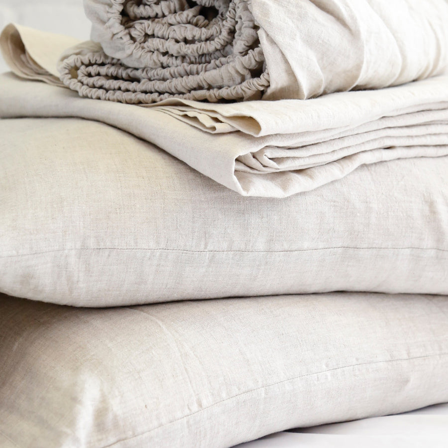 LINEN SHEET SET - FLAX