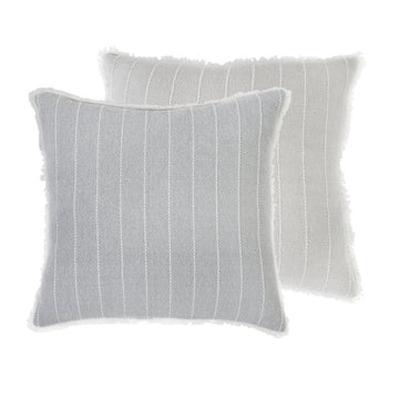 "HENLEY HAND WOVEN PILLOW 20"" X 20"" WITH INSERT - 2 colors"