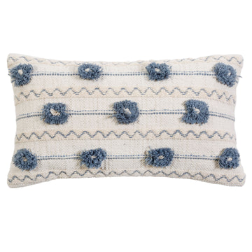"IZZY HAND WOVEN PILLOW 14"" x 24"" with insert"