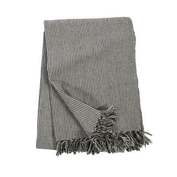 JAMES OVERSIZED THROW - Ivory/Charcoal