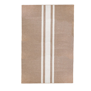 NEW!  BEACHWOOD HANDWOVEN RUG - NATURAL/IVORY