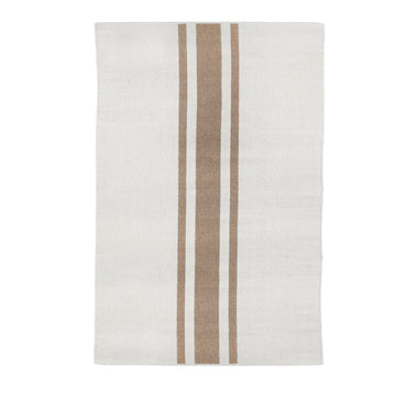 NEW!  BEACHWOOD HANDWOVEN RUG - IVORY/NATURAL