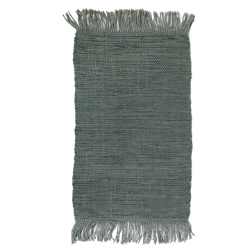 NILE HANDWOVEN RUG - STEEL BLUE