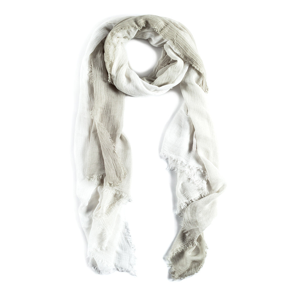 OMBRE SCARF - White/Sage