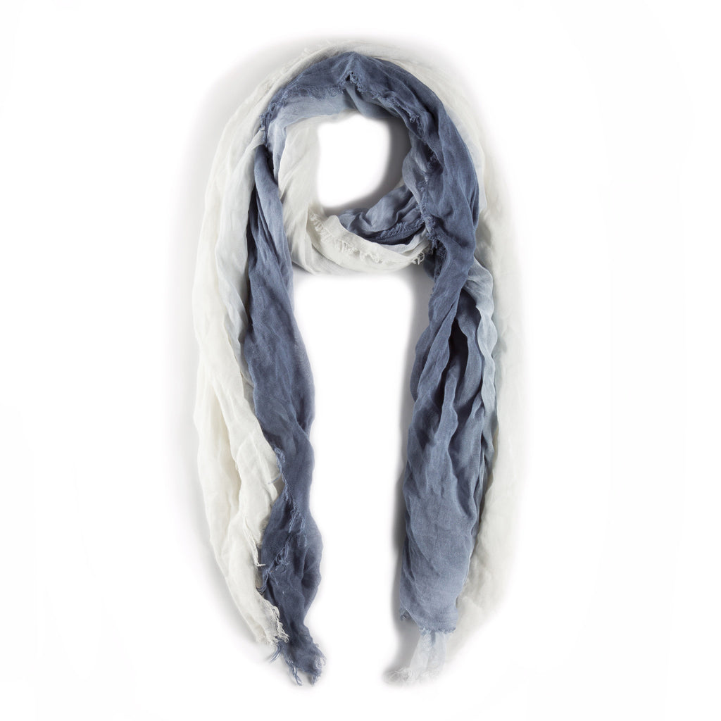 OMBRE SCARF - Steel