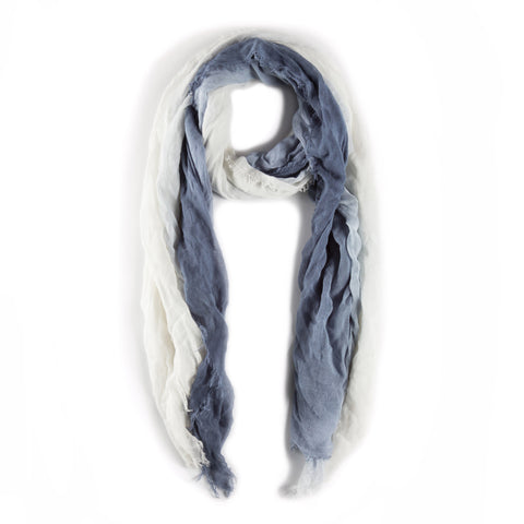 OMBRE SCARF - White/Steel