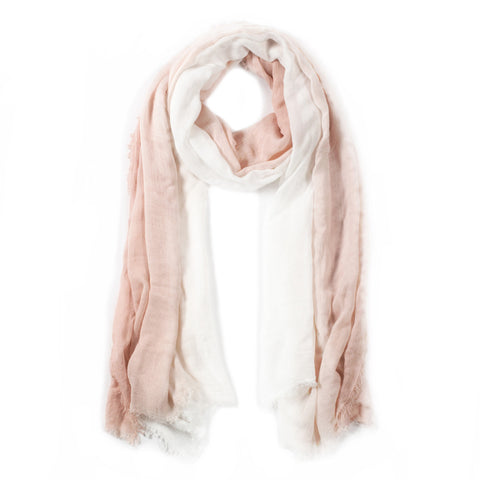 OMBRE SCARF - White/Blush