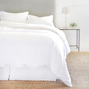 NEW!  PARKER BAMBOO DUVET SET - WHITE