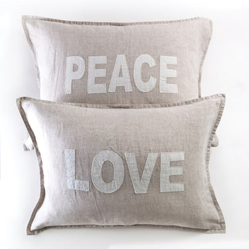 Love & Peace Pillows-Decorative Pillow-Pom Pom at Home
