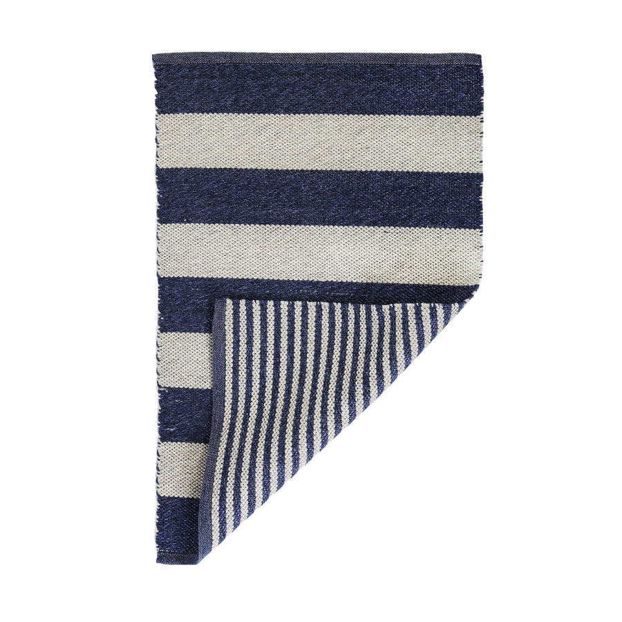 VERANDA HANDWOVEN RUG - LIGHT GREY/INDIGO