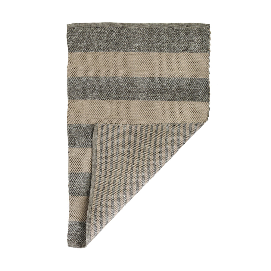 VERANDA HANDWOVEN RUG - GREY/NATURAL