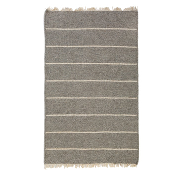 NEW!  WARBY HANDWOVEN RUG - LIGHT GREY