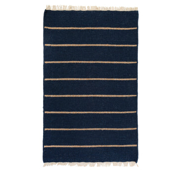 NEW!  WARBY HANDWOVEN RUG - NAVY