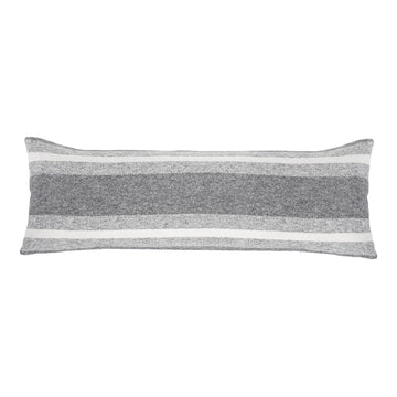 "ALPINE 14"" X 40"" PILLOW WITH INSERT - GREY/IVORY-Pom Pom at Home"