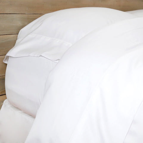 "<font color=""526b9e""><b> NEW! </b></font>  BAMBOO SHEET SET - <br> WHITE"