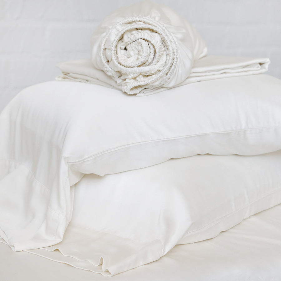 BAMBOO SHEET SET - IVORY-Pom Pom at Home
