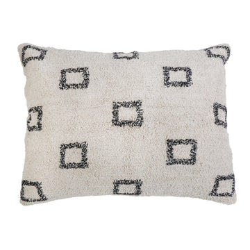 "BOWIE HAND WOVEN BIG PILLOW 28"" X 36"" WITH INSERT-Pom Pom at Home"