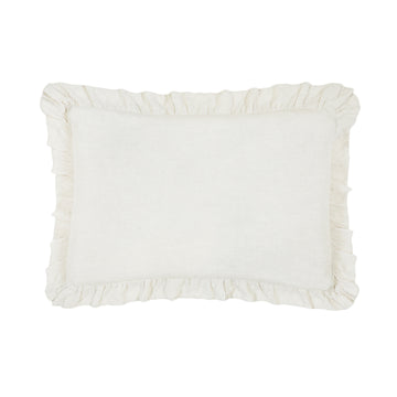 "CHARLIE BIG PILLOW 28"" X 36"" WITH INSERT - CREAM"