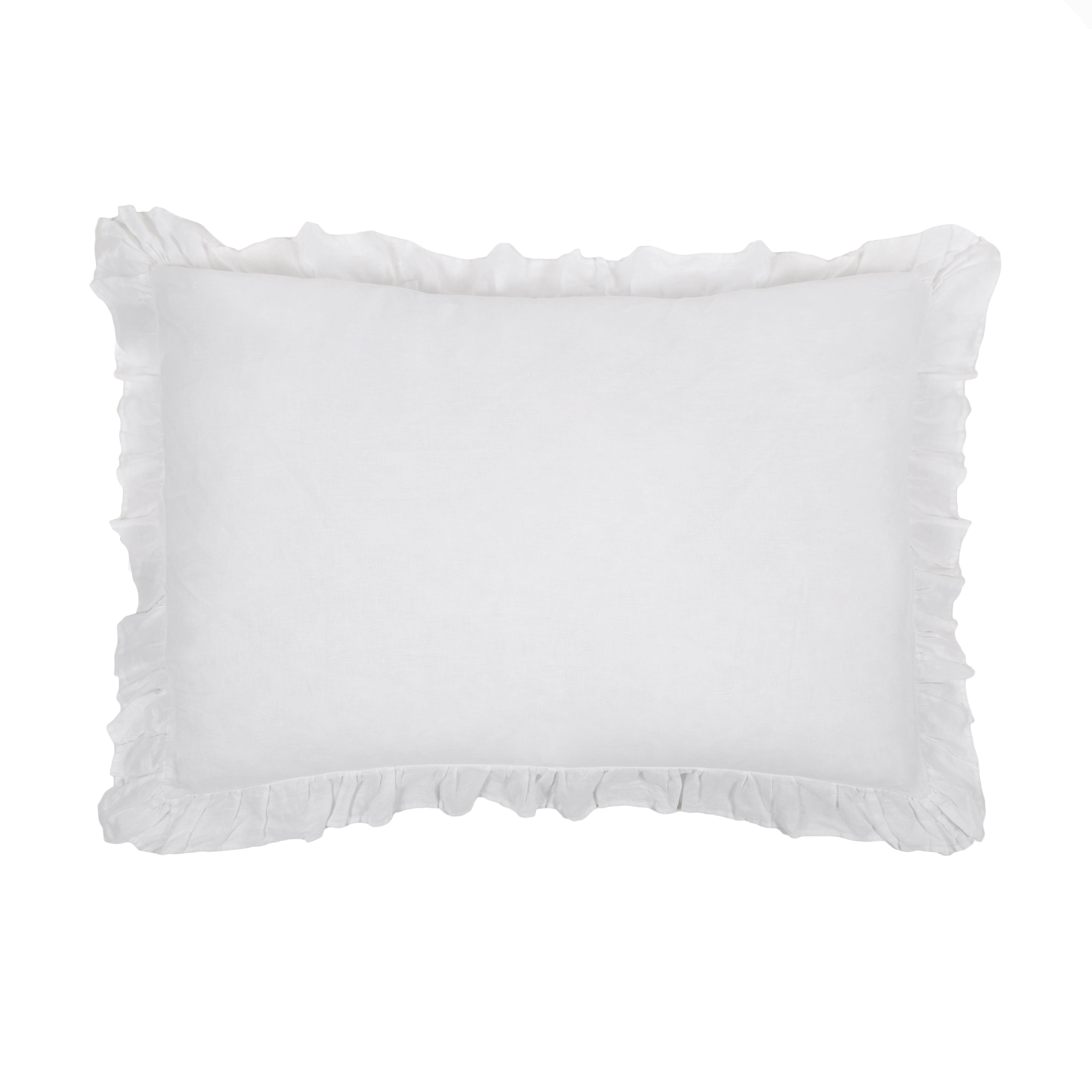 Charlie Big Pillow 28 X 36 With Insert White