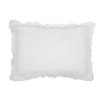 "CHARLIE BIG PILLOW 28"" X 36"" WITH INSERT - WHITE"