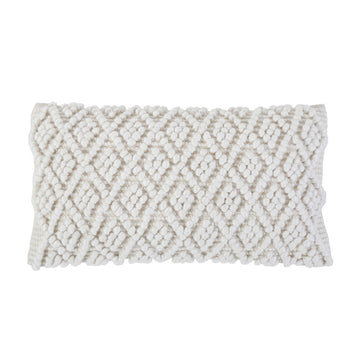 "COCO HAND WOVEN PILLOW 14"" x 24"" with insert"