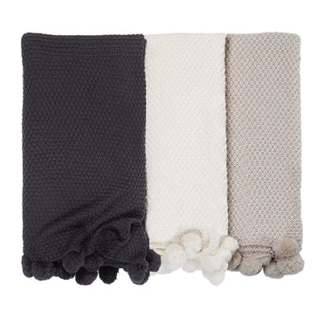 Riley Oversized Throw - 3 Colors-Pom Pom at Home