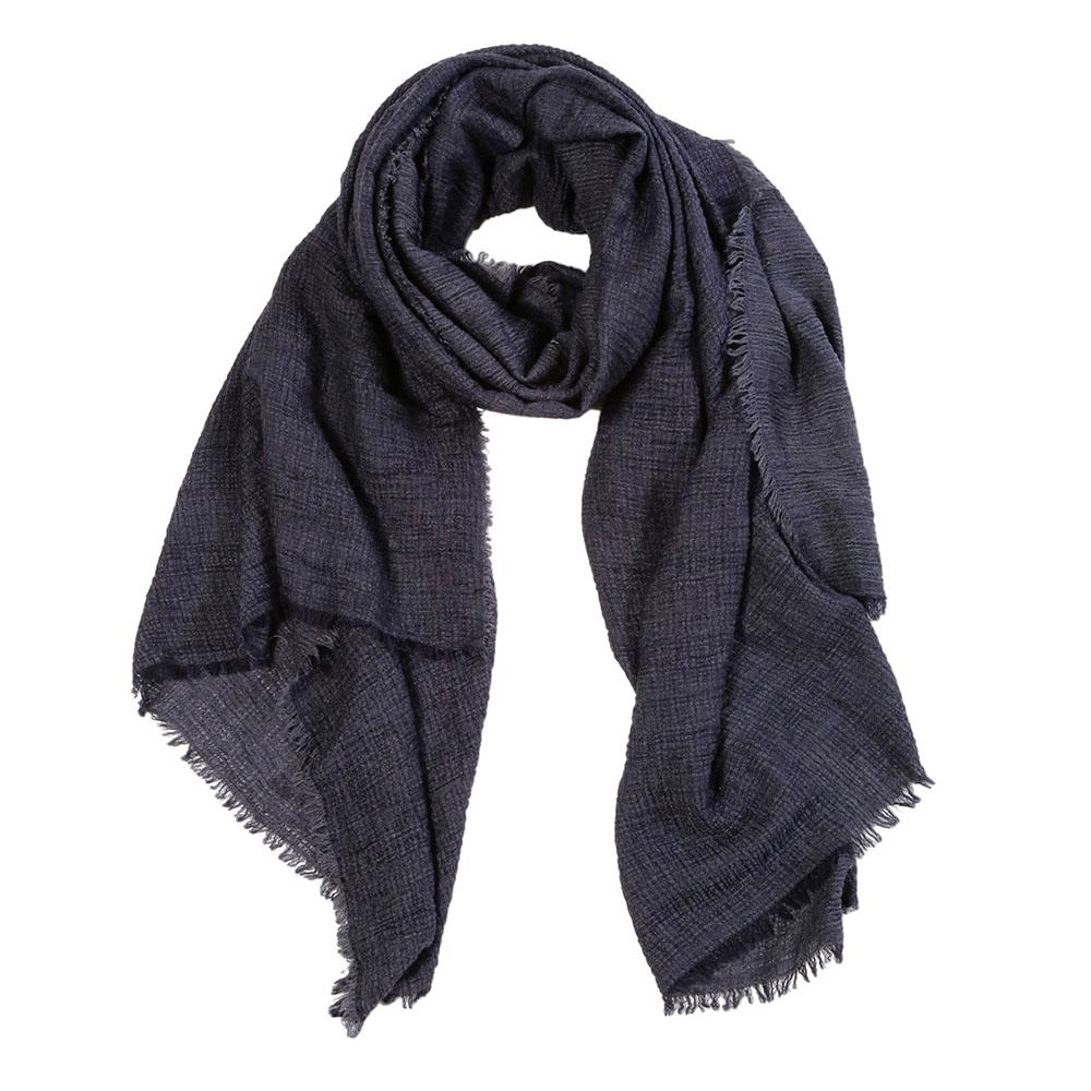 "<font color=""526b9e""><b> NEW! </b></font> CRINKLE SCARF - <br> NAVY"