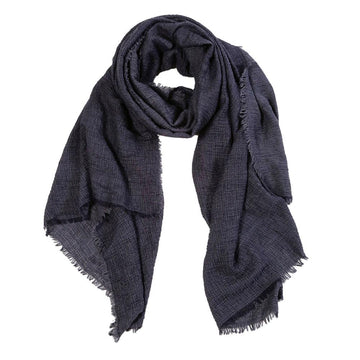 NEW!  CRINKLE SCARF - NAVY