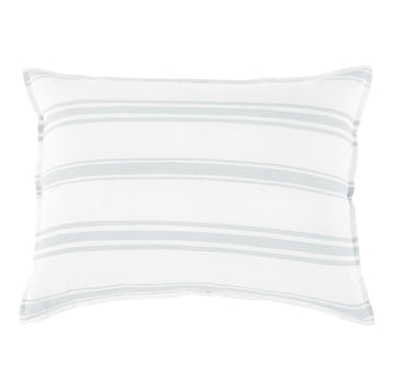 "JACKSON BIG PILLOW 28"" X 36"" WITH INSERT - WHITE/OCEAN"