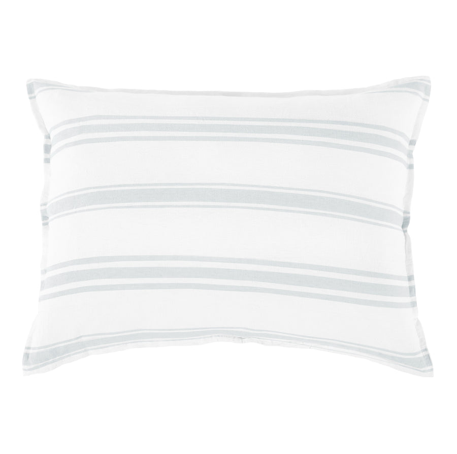 <b> NEW! </b> JACKSON BIG PILLOW WITH INSERT WHITE/OCEAN