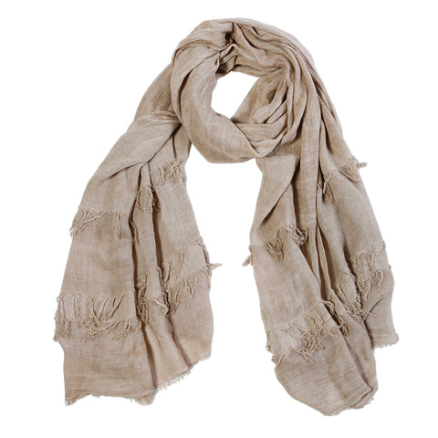 "<font color=""526b9e""><b> NEW! </b></font> LIBBY SCARF - <br> TAUPE"