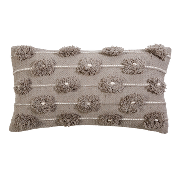 "NEW!  LOLA HAND WOVEN PILLOW 14"" x 24"" with insert"