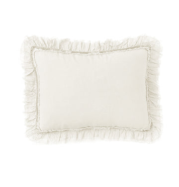 "MATHILDE BIG PILLOW 28"" X 36"" WITH INSERT - CREAM"