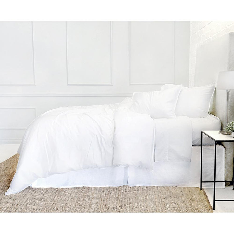 PARKER BAMBOO DUVET COVER SET - WHITE
