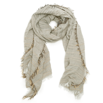 Pickstitch Scarf - TAUPE